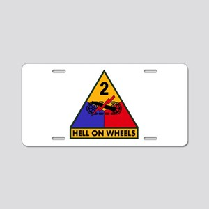 2nd AD Aluminum License Plate