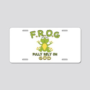 Fully Rely On God Aluminum License Plate