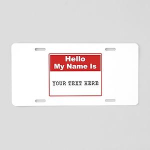 Custom Name Tag Aluminum License Plate