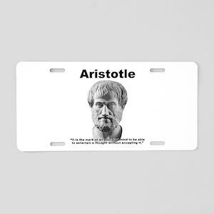 Aristotle Thought Aluminum License Plate