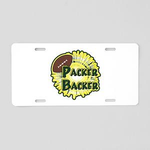 Packer Backer Aluminum License Plate