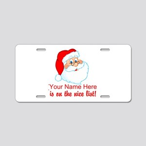 Personalized Nice List Aluminum License Plate