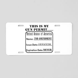 This Is My Gun Permit Aluminum License Plate