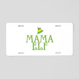 Mama Elf Aluminum License Plate
