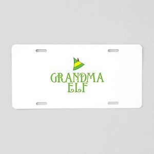 Grandma Elf Aluminum License Plate