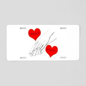 Custom Romance Aluminum License Plate
