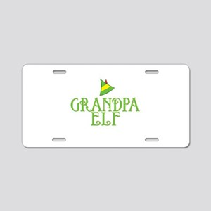 Grandpa Elf Aluminum License Plate