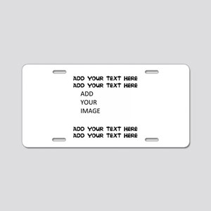 Custom Text And Image Aluminum License Plate
