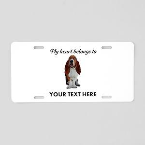 Personalized Basset Hound Aluminum License Plate