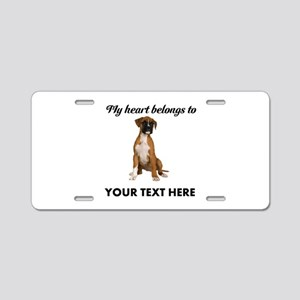 Personalized Boxer Dog Aluminum License Plate