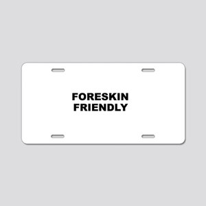 Foreskin Friendly Aluminum License Plate