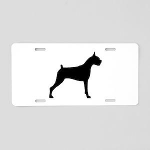 Boxer Dog Aluminum License Plate