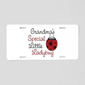 Grandma's Ladybug Aluminum License Plate