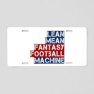 Fantasy Football Machine Aluminum License Plate