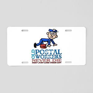 Postal Aluminum License Plate