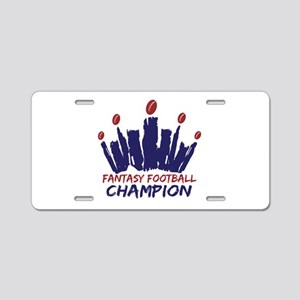 Fantasy Football Champ Crown Aluminum License Plat
