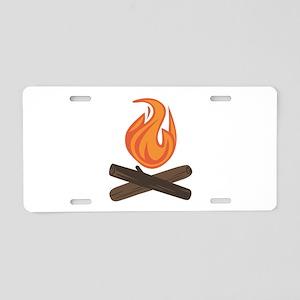 Fire Wood Aluminum License Plate