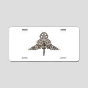 HALO Jump Master - Grey Aluminum License Plate
