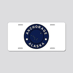 Anchorage Alaska Aluminum License Plate