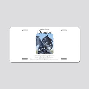 Advice from a Dragon Aluminum License Plate