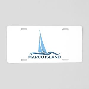 Marco Island - Sailing Design. Aluminum License Pl