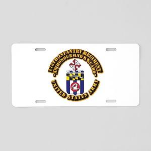 COA - 175th Infantry Regiment Aluminum License Pla