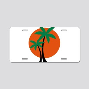 palm trees Aluminum License Plate