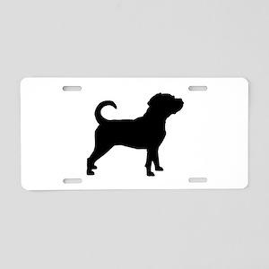 Puggle Dog Aluminum License Plate