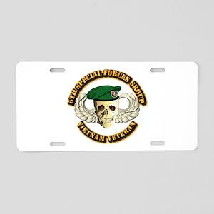 5th SFG - WIngs - Skill Aluminum License Plate