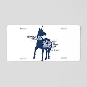 Unicorns Aluminum License Plate