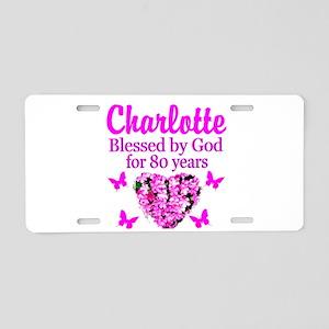 80TH PRAYER Aluminum License Plate