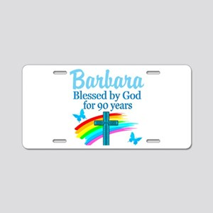 CHRISTIAN 90TH Aluminum License Plate