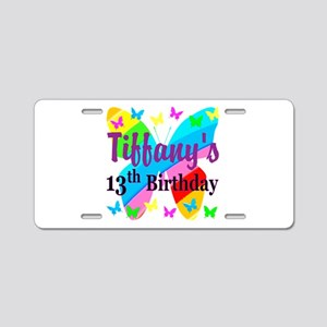 PERSONALIZED 13TH Aluminum License Plate