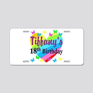 PERSONALIZED 18TH Aluminum License Plate