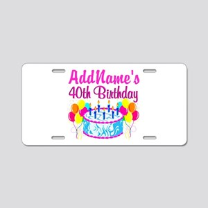 40TH PARTY Aluminum License Plate