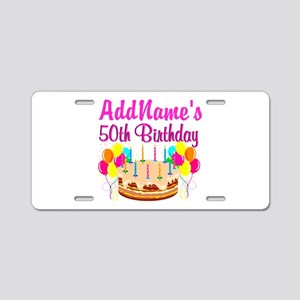 AWESOME 50TH Aluminum License Plate