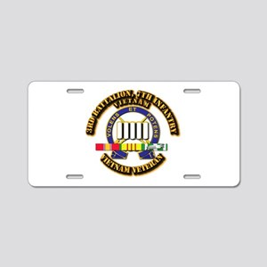 3rd Battalion, 7th Infantry Aluminum License Plate