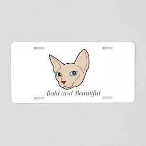 Baldy Cat Aluminum License Plate