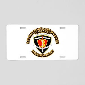 SSI - 2nd Battalion - 3rd Marines USMC VN Aluminum