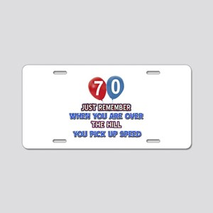 70 year old designs Aluminum License Plate