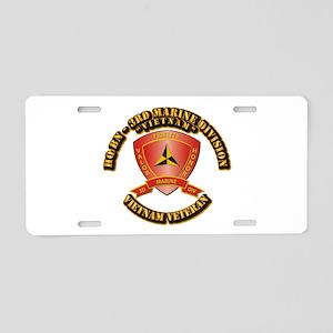 USMC - HQ Bn - 3rd Marine Division VN Aluminum Lic