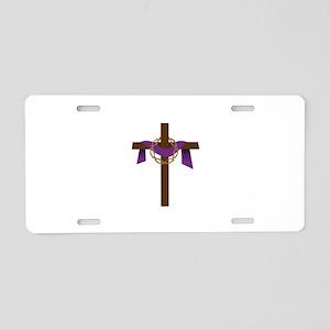 Season Of Lent Cross Aluminum License Plate