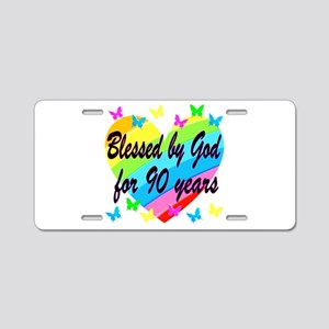 90TH PRAYER Aluminum License Plate