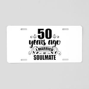 50th Anniversary Aluminum License Plate