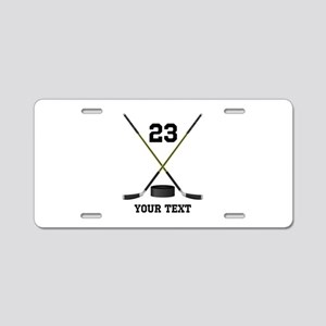 Ice Hockey Personalized Aluminum License Plate