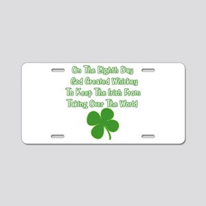 Irish Whiskey Aluminum License Plate