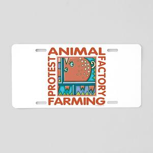 Factory Farming Aluminum License Plate
