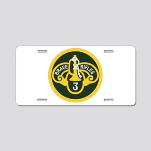 3rd Armored Cavalry Aluminum License Plate