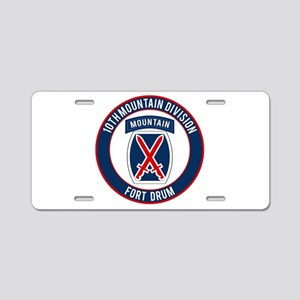 10th Mountain Ft Drum Aluminum License Plate