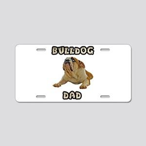 Bulldog Dad Aluminum License Plate